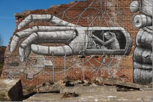 Le cinquième artiste de rue est Phlegm