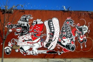 L'artiste de rue est Sheryo