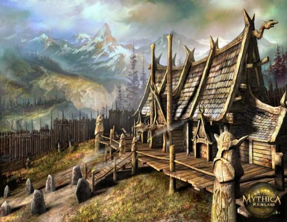Midgard est un royaume dans la mythologie nordique