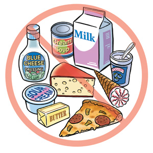 Je suis intolérante au lactose