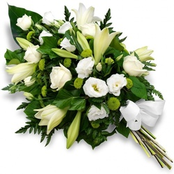 gerbe de fleurs blanches
