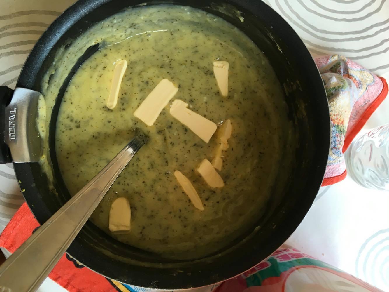 ajout du beurre pour la tarte mojito