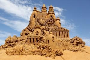 Grand château de sable