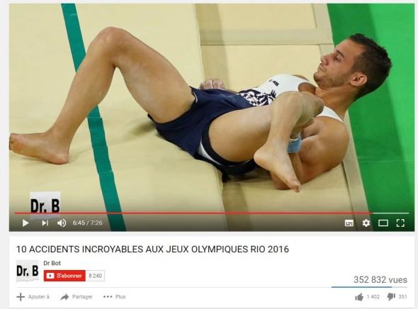 Blessure Samir Ait Said JO Rio 2016
