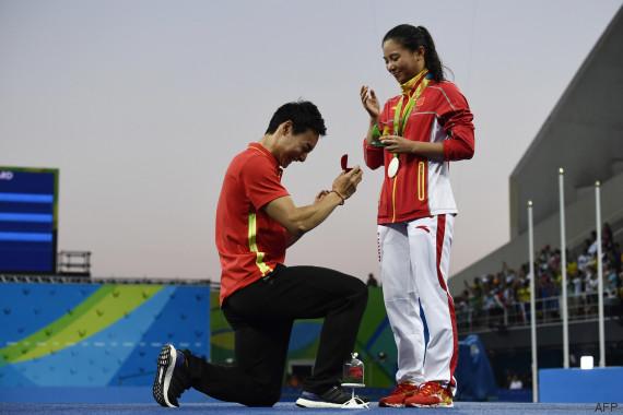 Demande en mariage JO Rio 2016