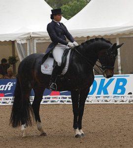 Inessa Merkulova et son cheval Mister X