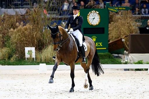 Isabell Werth et son cheval Emilio en 2016
