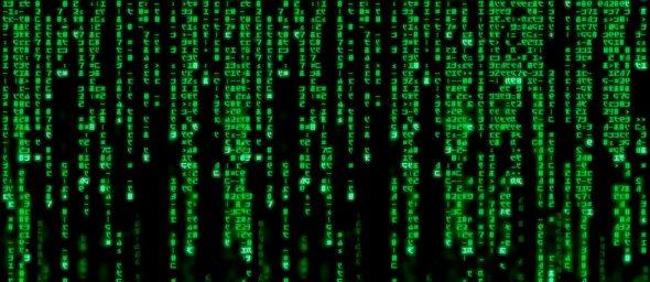 Lignes de code vert de Matrix