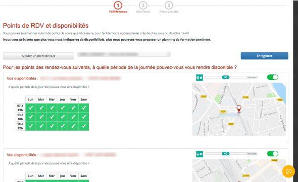 Choix d'un moniteur sur auto-école.net