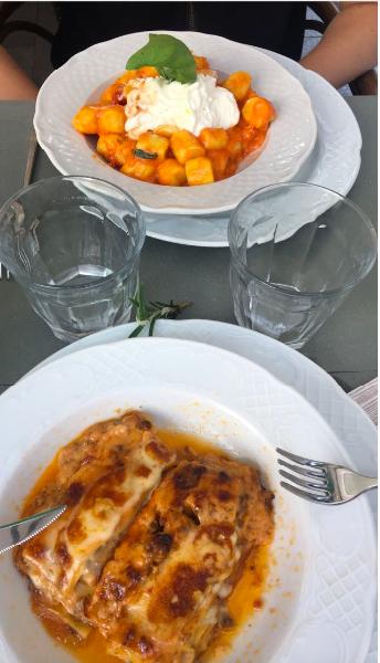 Repas italien typique