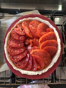 Pâte tarte à la tomate avec tomates